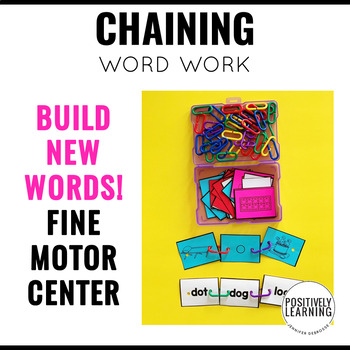 Chaining CVC Words Fine Motor Activities Center