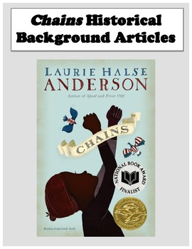 Chains By Laurie Halse Anderson Background Knowledge Activities