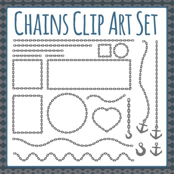 Chains Clip Art Set for Commercial Use