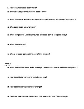 Chains Comprehension Questions Ch. 23-26