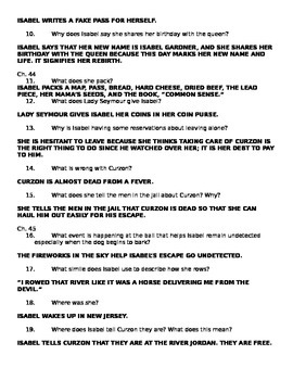 Chains Comprehension Questions Ch. 43-45