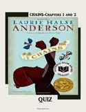 Chains by Laurie Halse Anderson/ Chapter 1-2 Quiz