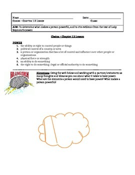 Chains, by Laurie Halse Anderson - Chapter 12 Lesson Plan & Worksheet