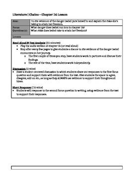 Chains, by Laurie Halse Anderson - Chapter 16 Lesson Plan & Worksheet