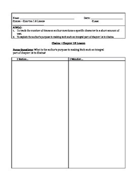 Chains, by Laurie Halse Anderson - Chapter 18 Lesson Plan & Worksheet