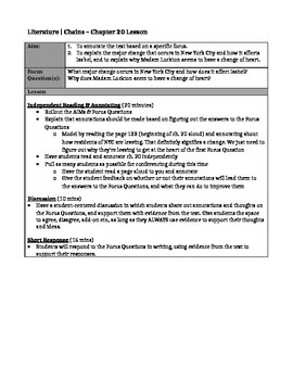 Chains, by Laurie Halse Anderson - Chapter 20 Lesson Plan & Worksheet