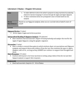 Chains, by Laurie Halse Anderson - Chapter 30 Close Reading Lesson & Worksheet