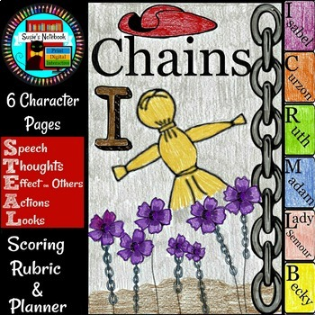 Chains by Laurie Halse Anderson Character Flip Book