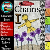 Chains by Laurie Halse Anderson Character Flip Book and Growth Mindset Activity