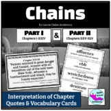 Chains by Laurie Halse Anderson: Evaluating Chapter Quotes