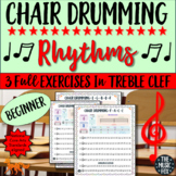 *Chair Drumming Rhythms - IN TREBLE CLEF For Beginners (Grades 3-9)