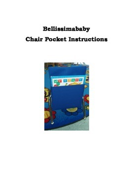 Chair Pocket Instructions - How to Make a Chair Pocket Seat Sack