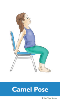 chair yoga cards for kidskids yoga stories  tpt
