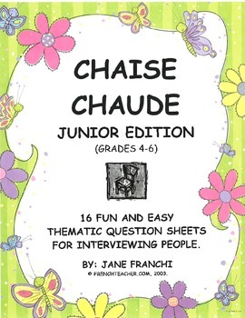 Chaise Chaude - Daily Thematic French Questions - Gr. 5-8
