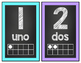 Chalkboard Number Posters- Spanish