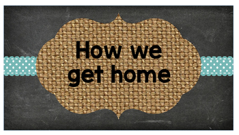 Chalboard and Burlap - How we get home