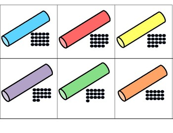 Chalk 0-20 Counting 10s Frames