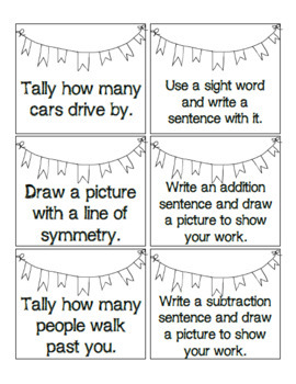 Chalk Activities Task Cards! 30 ideas for literacy, math and science