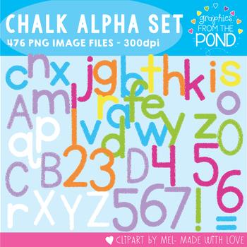 Chalk Alphabet / Blackboard Alphabet - Graphics From the Pond