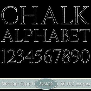 Chalk Alphabet Clipart Chalkboard Text Numbers Clip Art Digital Typography