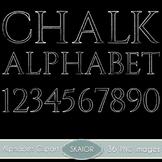 Chalk Alphabet Clipart Chalkboard Text Numbers Clip Art Di
