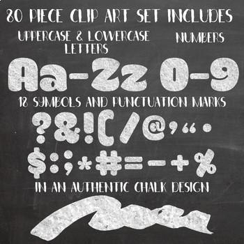 Chalk Alphabet Letters - Authentic Chalkboard Alphabet Clip Art