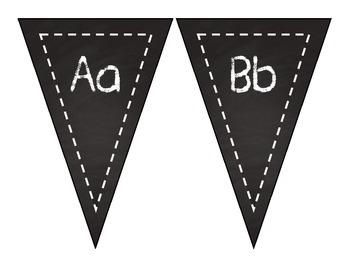 Chalk Alphabet Pennants