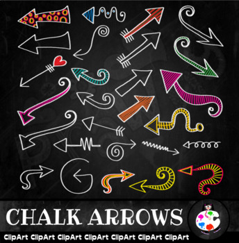 Chalk Arrow Doodles - Clip Art Set