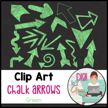Chalk Arrows Clip Art - Bundle