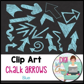 Chalk Arrows Clip Art Bundle