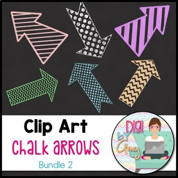 Chalk Arrows Clip Art Bundle 2