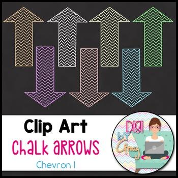 Chalk Arrows Clip Art - Chevron 1
