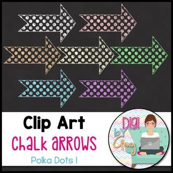 Chalk Arrows Clip Art - Polka Dots 1