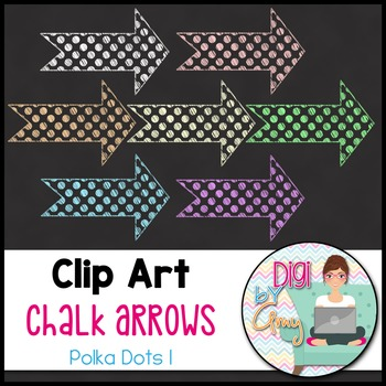 Chalk Arrows Clip Art Polka Dots 1