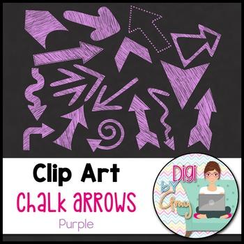 Chalk Arrows Clip Art Purple