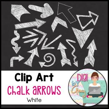 Chalk Arrows Clip Art White