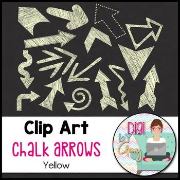 Chalk Arrows Clip Art Yellow