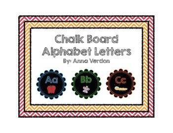 Chalk Board Alphabet Letters