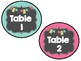 Chalk Board Bright Table Signs and Number Labels