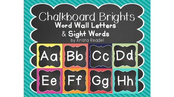 Chalk Board Brights Word Wall {Rainbow}
