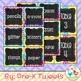 Chalk Board Chevron and Polka Dot Labels