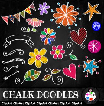 Chalk Board Doodle Clip Art
