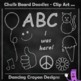 Chalk Board Doodles - 24 Chalk Effect Clip Art Images