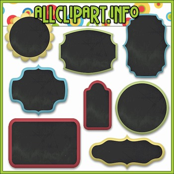 Chalk Board Frame Elements
