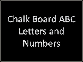 Chalk Board Letters and Numbers