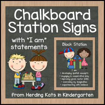 Chalk Board Station Signs