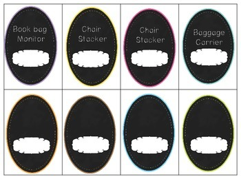 Chalk Board Themed Class Jobs
