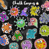 Chalk Board Virus Germ Clipart Images