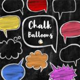 Chalk Board Word Balloon Speech Bubble Clipart