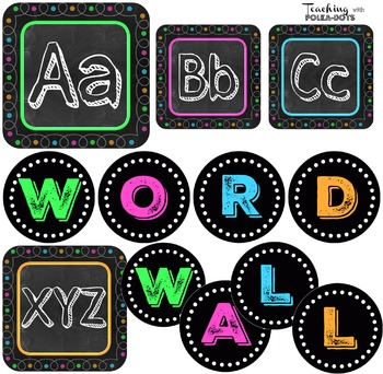 Chalk Board Word Wall Letters